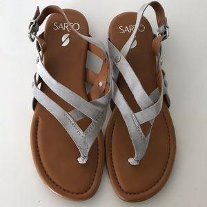 FRANCO SARTO A-Gretchen leather sandals size 8.5M